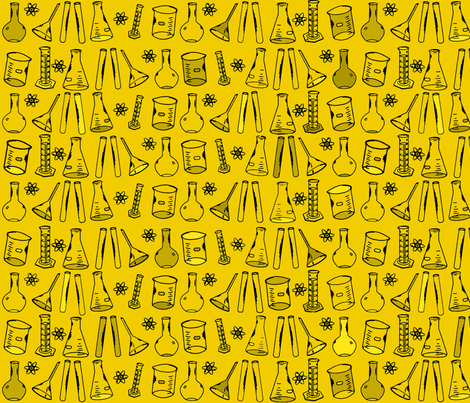 Chemistry Lab Yellow fabric by nocodazole on Spoonflower - custom fabric