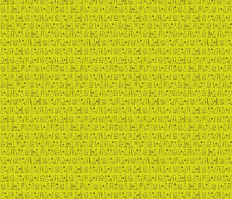Yellow Chemistry Lab Small fabric by nocodazole on Spoonflower - custom fabric