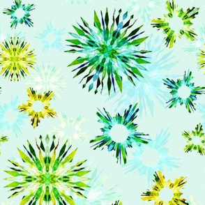 Paper Mache Snowflakes