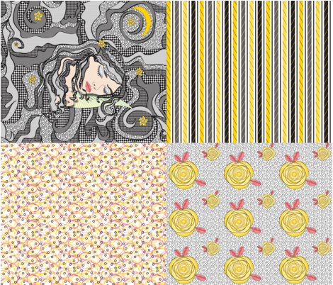 Sweet Dreams with Coordinating Fabrics fabric by mag-o on Spoonflower - custom fabric