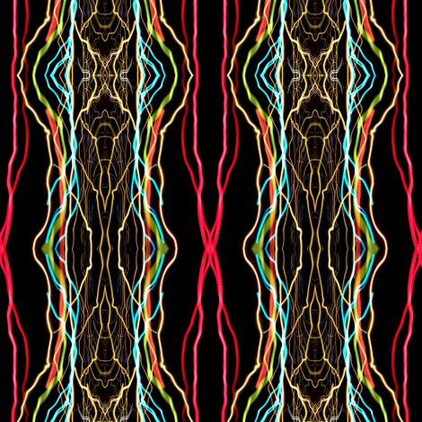Jewel Tones on Black fabric by glennis on Spoonflower - custom fabric