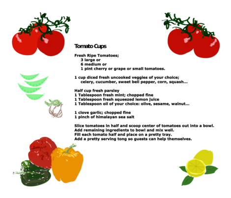 Recipe Tomato Cups fabric by monicapeters on Spoonflower - custom fabric