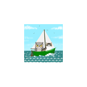 Owl_and_Pussycat_at_Sea_30_inch_wall_decal