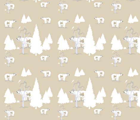 Polar Bear King fabric by karenharveycox on Spoonflower - custom fabric