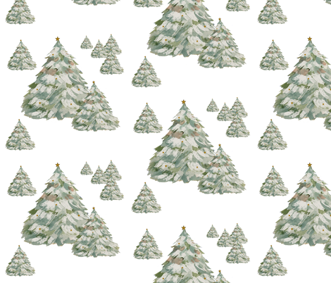 An Evergreen Forest fabric by karenharveycox on Spoonflower - custom fabric