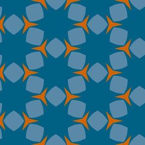 Edonohana (Blue Teal and Burnt Orange)