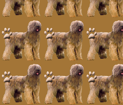 briard dog fabric fabric by dogdaze_ on Spoonflower - custom fabric