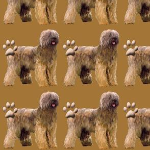 briard dog fabric