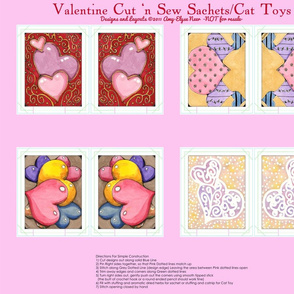 Watercolor Valentine Sachets Pink Set