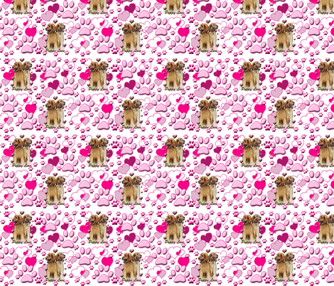 Pink Puppy Love fabric by dogdaze_ on Spoonflower - custom fabric