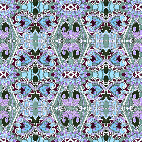 Winter Blues fabric by edsel2084 on Spoonflower - custom fabric
