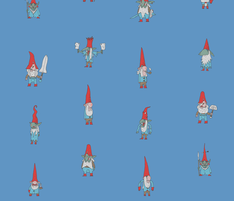 Gnomes and Goblins Big fabric by buffy_sunders on Spoonflower - custom fabric