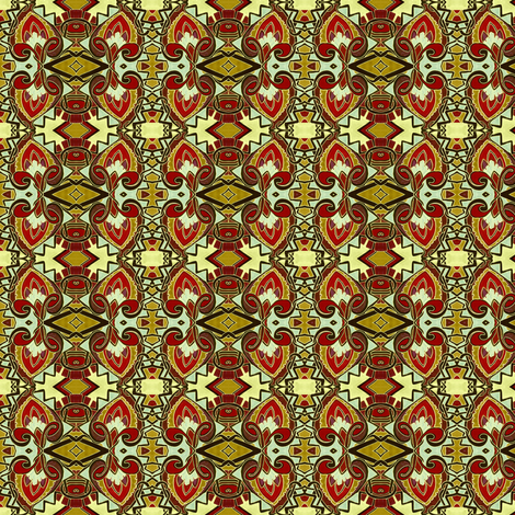 Medieval Stained Glass fabric by edsel2084 on Spoonflower - custom fabric