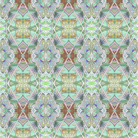 Thru the Leaded Glass fabric by edsel2084 on Spoonflower - custom fabric