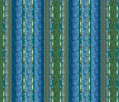 atlantis_stripe 3X size fabric by glimmericks on Spoonflower - custom fabric