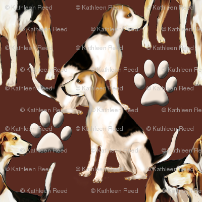 Hound dogs and paw prints