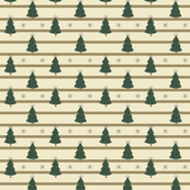 Christmas Trees - Green and Cream