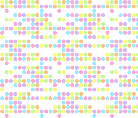 Baby Pastel Dots Pattern fabric by jannasalak on Spoonflower - custom fabric