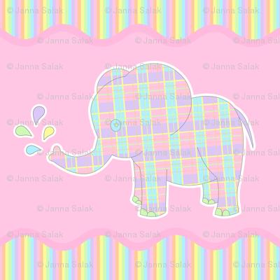 Baby Elephant Pastel Repeat
