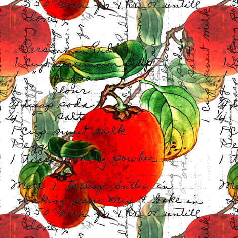 Persimmon Pudding fabric by donna_kallner on Spoonflower - custom fabric