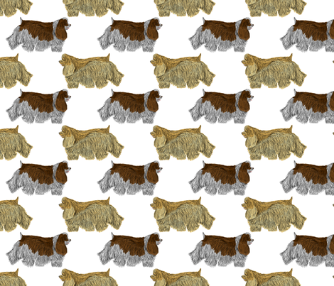 Trotting Cocker Spaniels fabric by rusticcorgi on Spoonflower - custom fabric