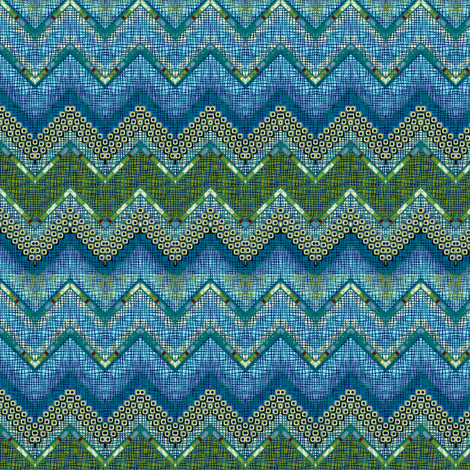 atlantis chevron fabric by glimmericks on Spoonflower - custom fabric