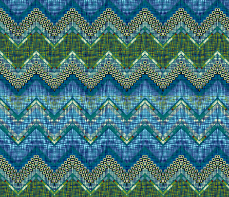 atlantis chevron large fabric by glimmericks on Spoonflower - custom fabric