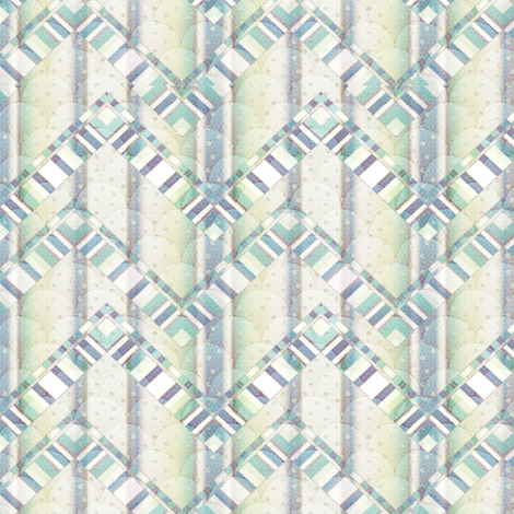 dreamy zigzag fabric by glimmericks on Spoonflower - custom fabric