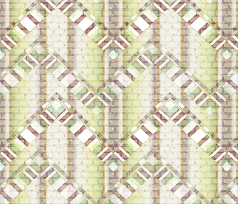 brick zigzag 3X fabric by glimmericks on Spoonflower - custom fabric