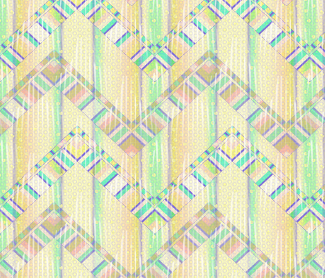 beach house zigzag 3X fabric by glimmericks on Spoonflower - custom fabric