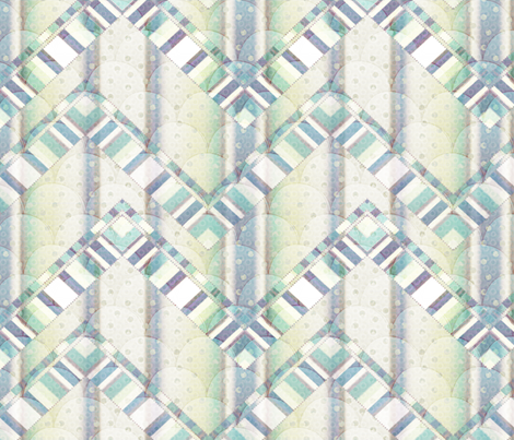 dreamy zigzag 3X fabric by glimmericks on Spoonflower - custom fabric