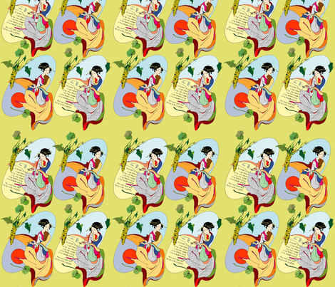 Wasabi Dip fabric by joanh on Spoonflower - custom fabric