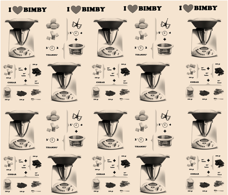 I LOVE BIMBY fabric by creale on Spoonflower - custom fabric