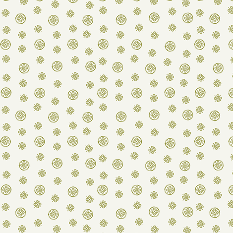 delft dots olive fabric by glimmericks on Spoonflower - custom fabric