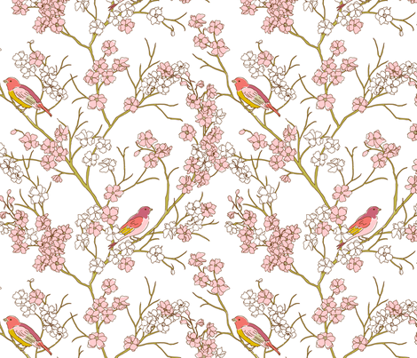 Bird_Print fabric by duckerdesigns on Spoonflower - custom fabric