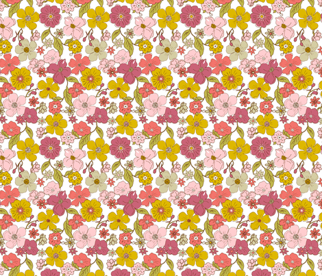 Mini_Line_Garden_Floral fabric by duckerdesigns on Spoonflower - custom fabric