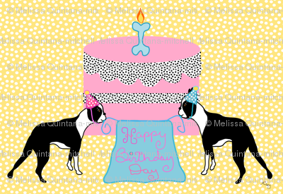 Boston Terrier Birthday Celebration