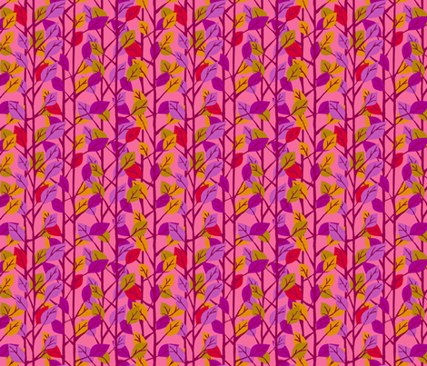 Cherry Trees (pink) fabric by happyjonestextiles on Spoonflower - custom fabric