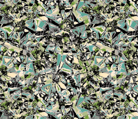 Telepathy in blue and green fabric by mktextile on Spoonflower - custom fabric