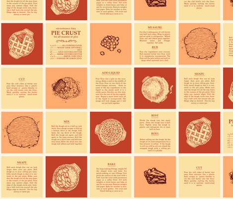 Vintage Pie Dough Recipe fabric by kitchentablescraps on Spoonflower - custom fabric