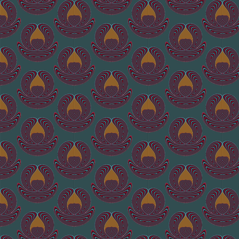 Blue Altar fabric by david_kent_collections on Spoonflower - custom fabric