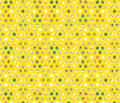 Gumballs - Mixed Bag Lemon fabric by maplewooddesignstudio on Spoonflower - custom fabric