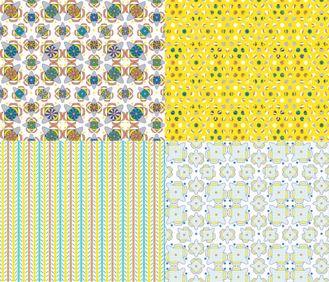 Candy Coordinates fabric by maplewooddesignstudio on Spoonflower - custom fabric