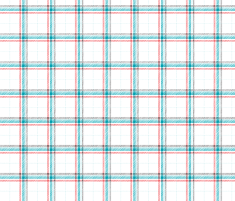 Ocean Plaid fabric by leanne on Spoonflower - custom fabric