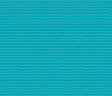 Waterwaves Turquoise fabric by leanne on Spoonflower - custom fabric