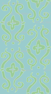 baroque lozenge small - mermaid