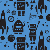 Rockets N' Robots (blue shadow)