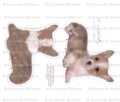 corgi puppy plushie