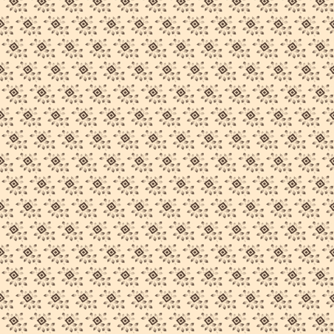 Antique adaptation fawn & brown diamonds with leaves fabric by the_cornish_crone on Spoonflower - custom fabric