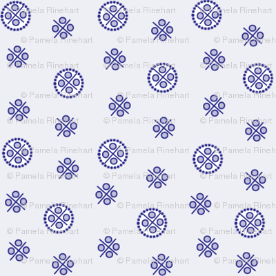 delft dots blue